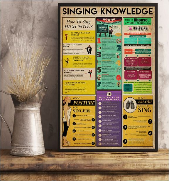 Singing knowledge poster 2