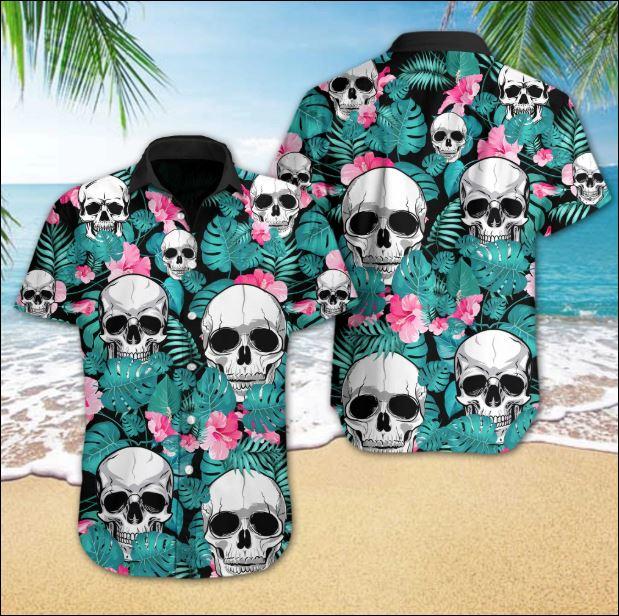 Skull Tropical hawaiian shirt