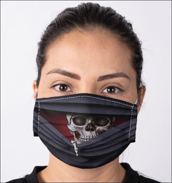 Skull looking face mask