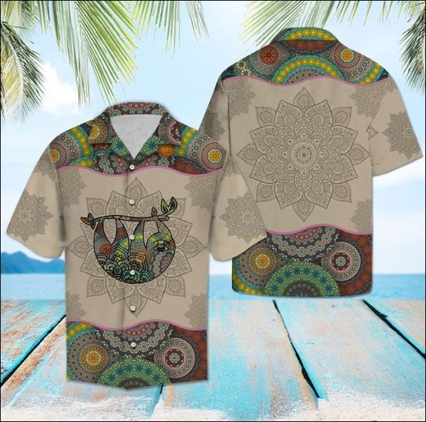 Sloth Mandala hawaiian shirt
