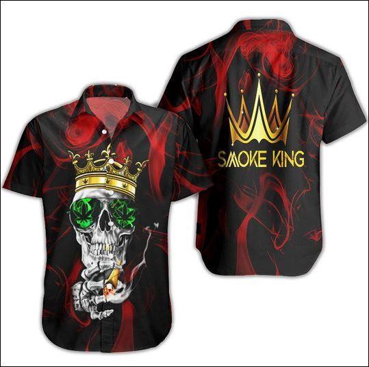 Smoke king weed hawaiian shirt
