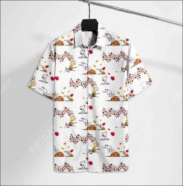 Snoopy and Charlie hawaiian shirt