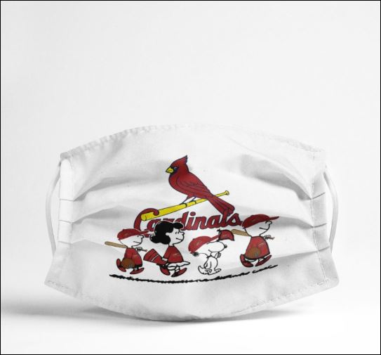 Snoopy and friends Cardinals fan face mask