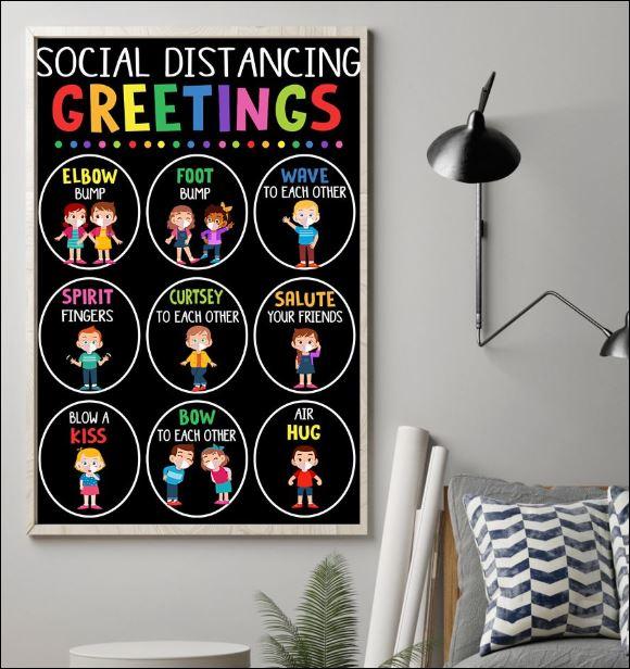 Social distancing greetings poster 1