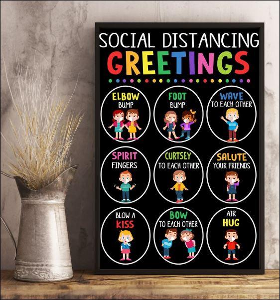 Social distancing greetings poster 2