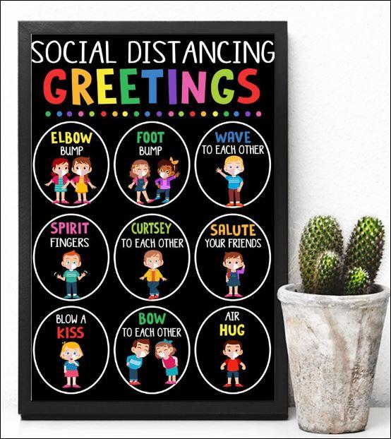 Social distancing greetings poster 3