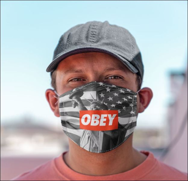 Statue of Liberty Obey face mask