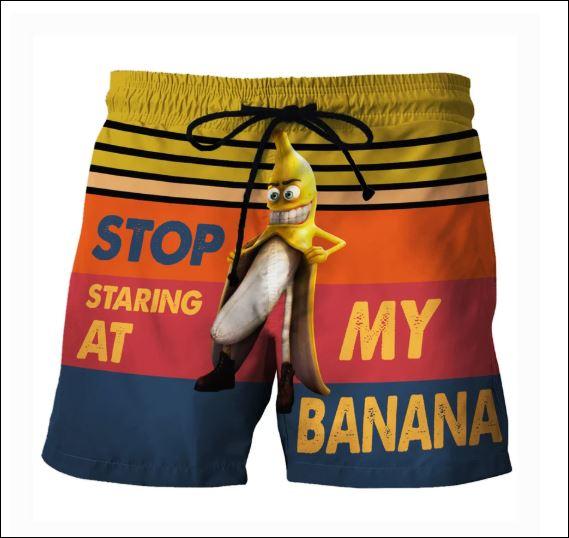 Stop staring at my banana beach short