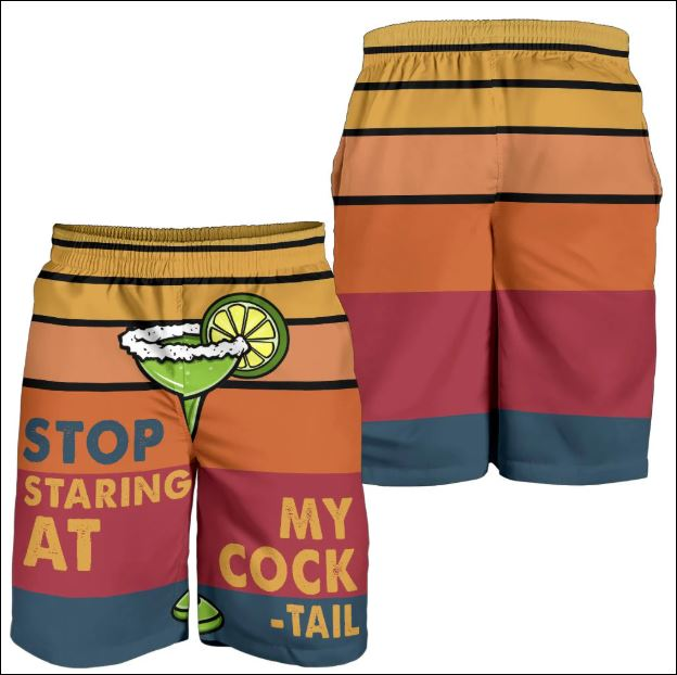 Stop staring at my cock tail beach short