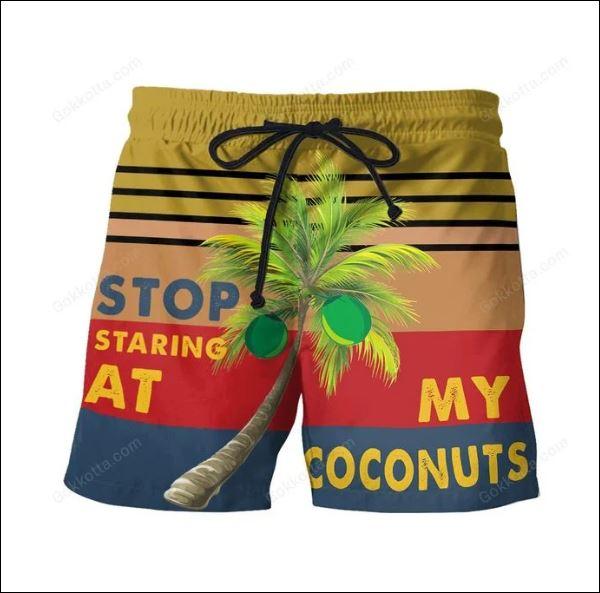 Stop staring at my coconuts beach short
