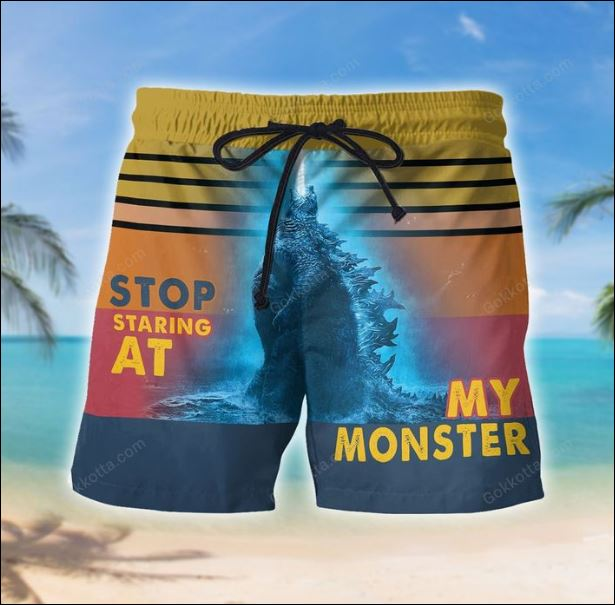 Stop staring at my moster beach short