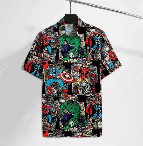 Super heros Marvel hawaiian shirt