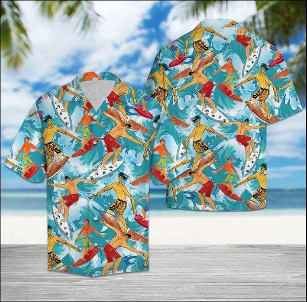 Surfing lover hawaiian shirt