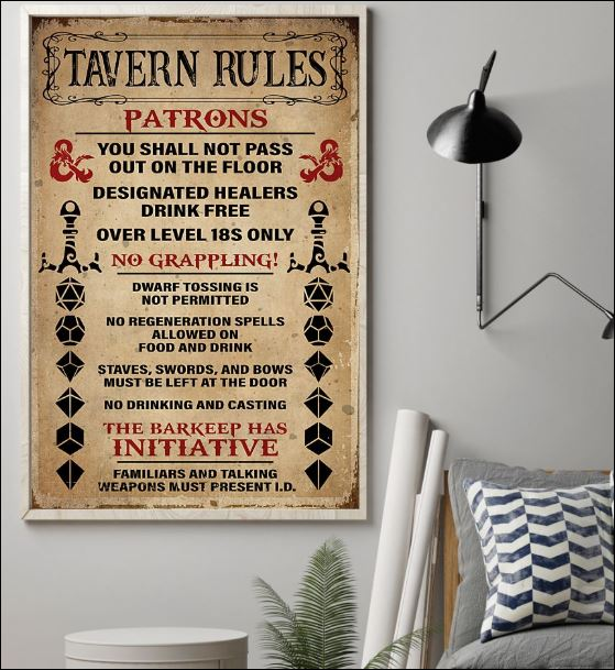 Tavern rules patrons poster 1