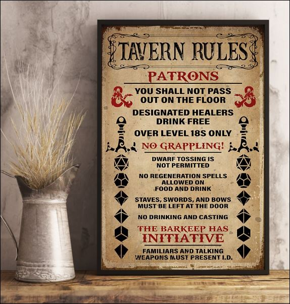 Tavern rules patrons poster 3