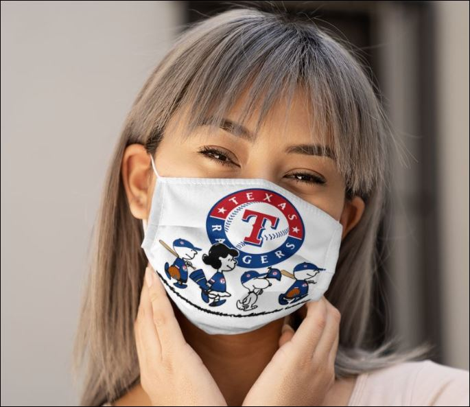 Texas Rangers Snoopy and friends face mask