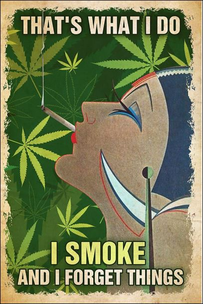 That's what i do i smoke and i forget things poster