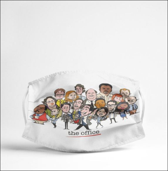 The Office chibi characters face mask