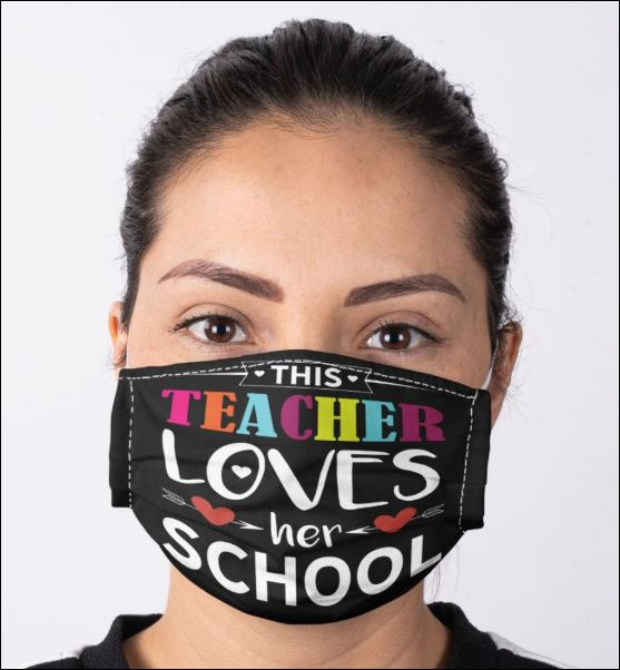 This teacher loves her school face mask