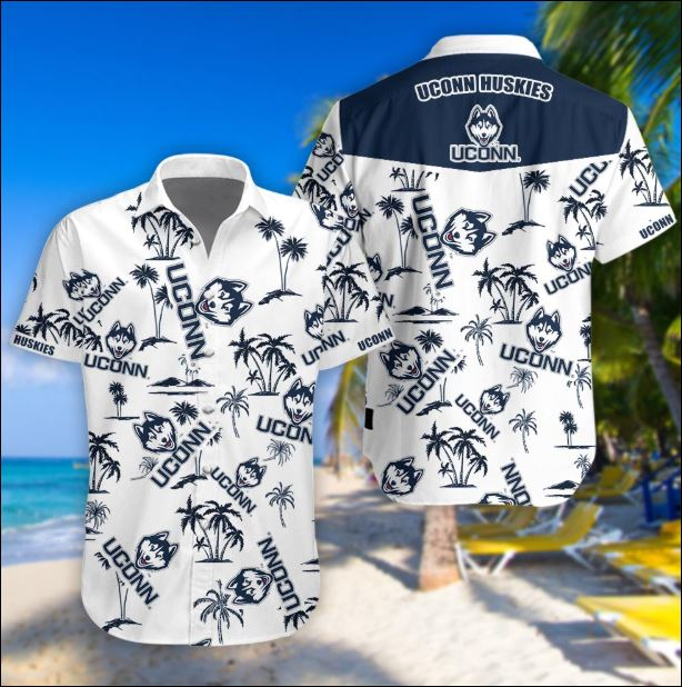 Uconn Huskies tropical hawaiian shirt