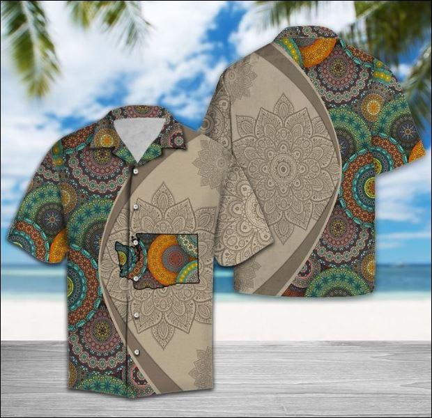 Washington Mandala hawaiian shirt