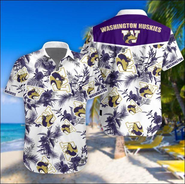 Washington huskies tropical hawaiian shirt