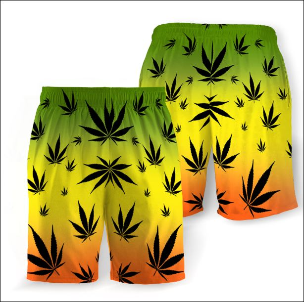 Weed Leaf Cannabis beach short