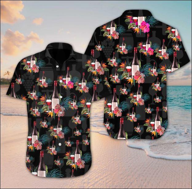 Wine flower hawaiian shirt