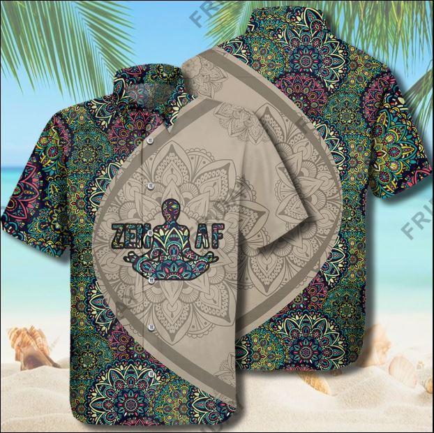 Zen Af Yoga hawaiian shirt