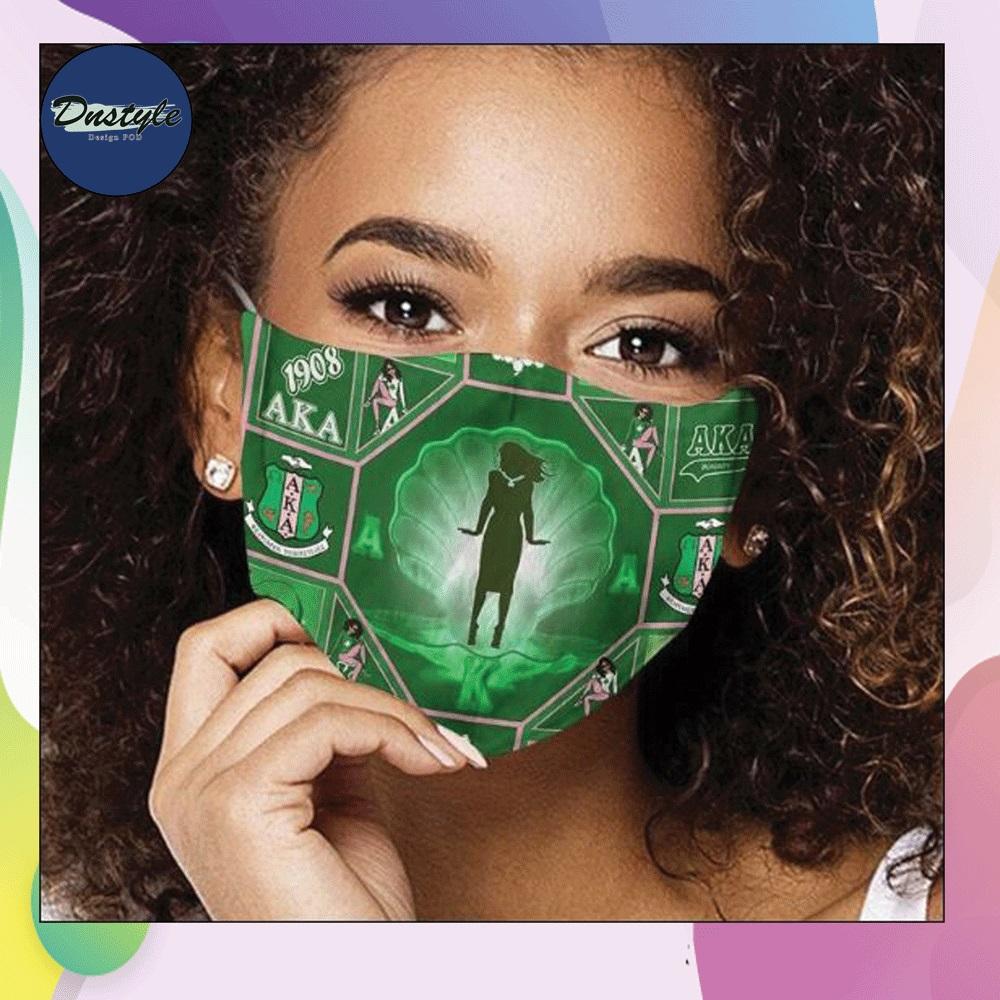 Alpha Kappa Alpha cloth face mask