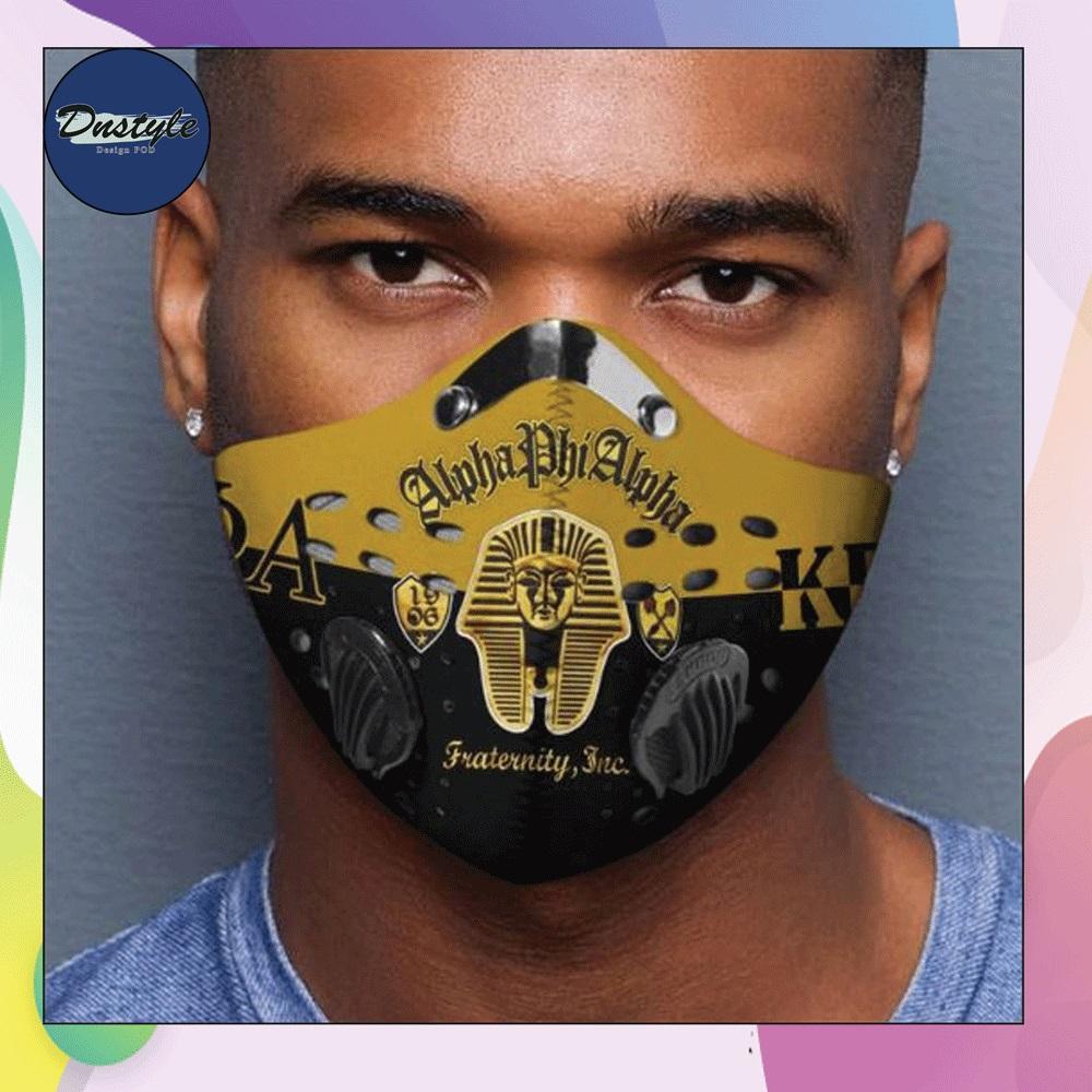 Alpha Phi Alpha logo face mask with filter