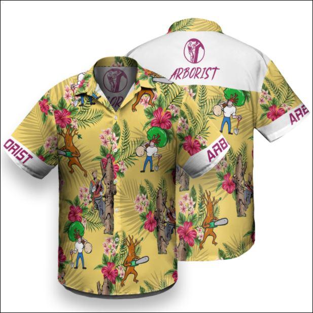 Arborist tropical hawaiian shirt
