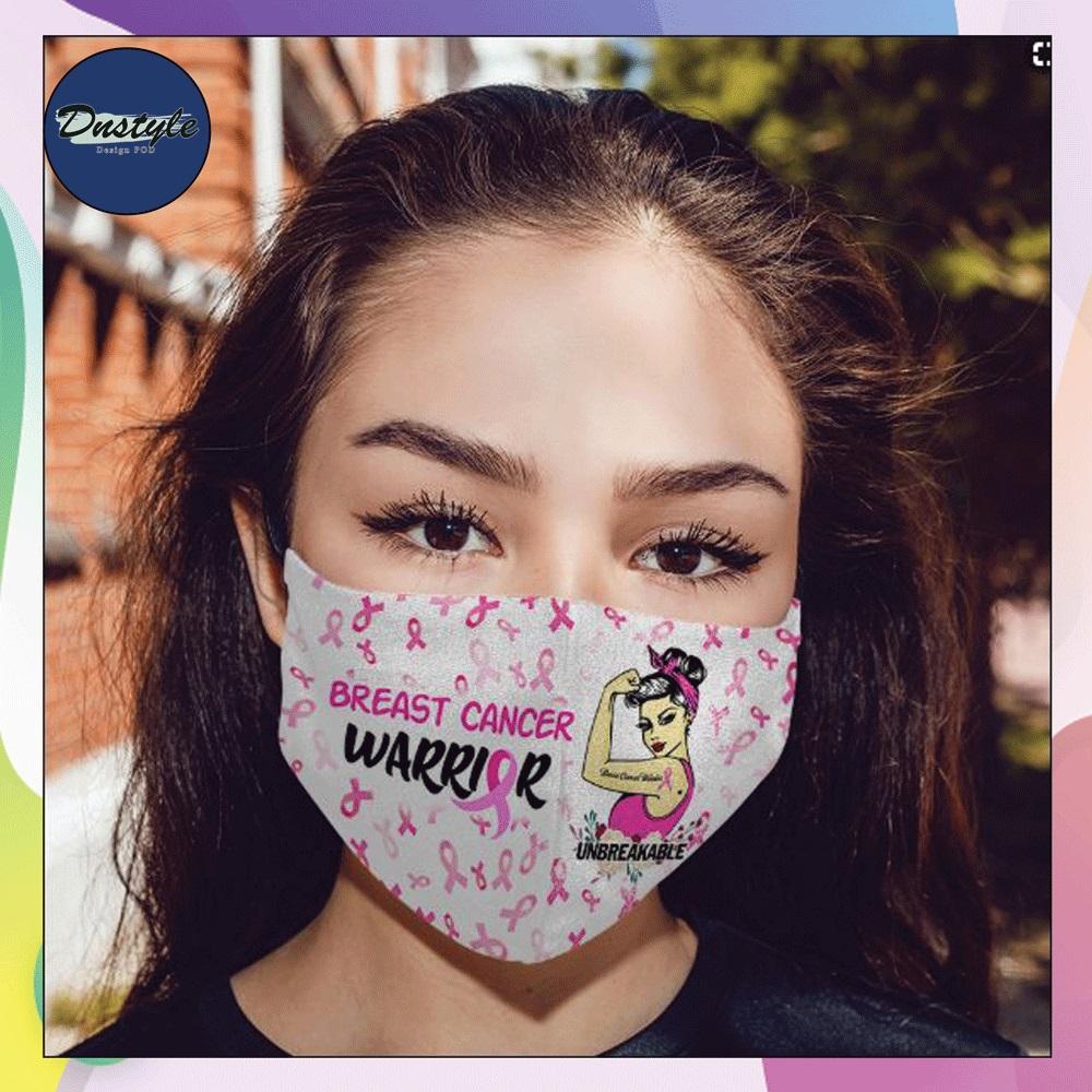 Breast cancer warrior face mask