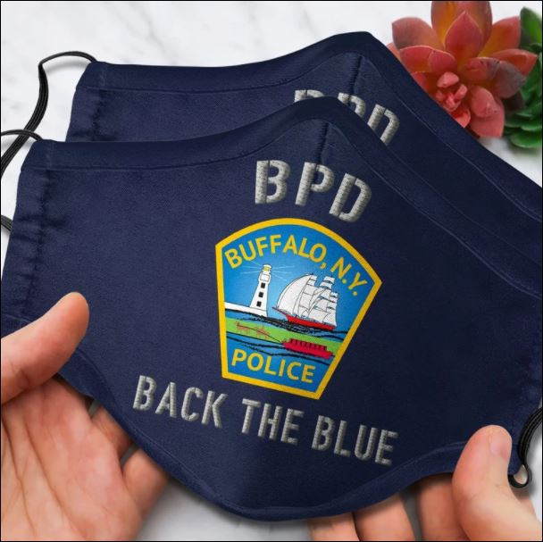 Buffalo Police Department back the blue face mask