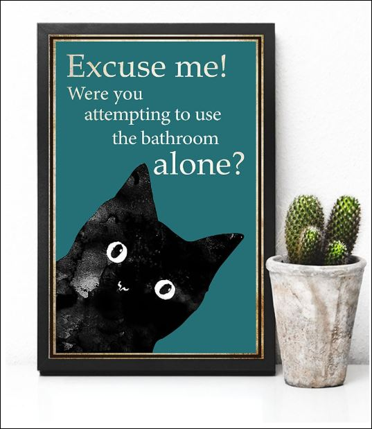 Cat excuse me were you attempting to use the bathroom alone poster 3