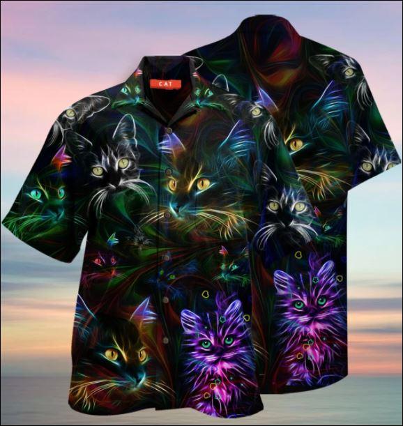Cat hair hawaiian shirt