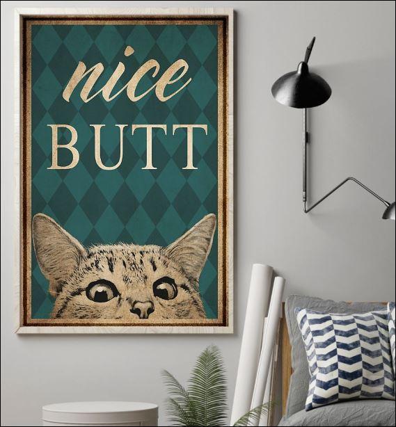 Cat nice butt poster 1
