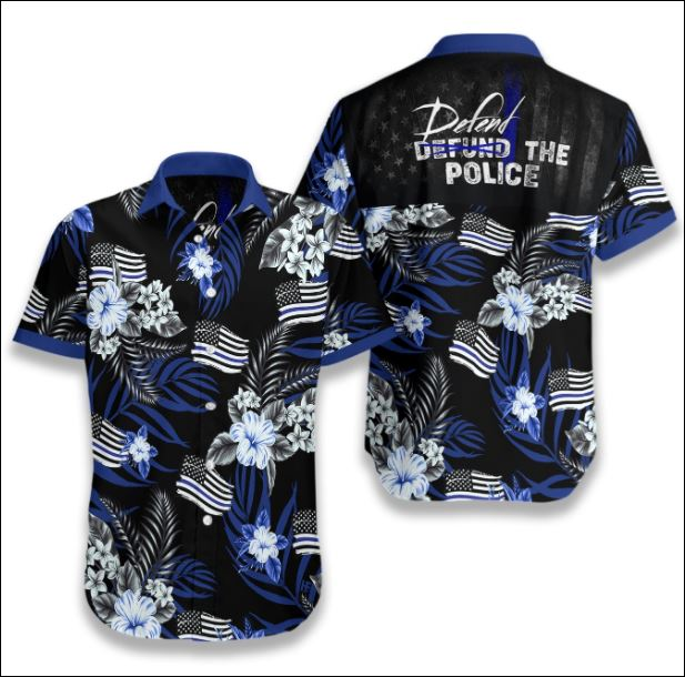 Defend The Police tropical hawaiian shirt