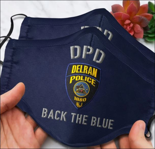 Delran Police Department back the blue face mask