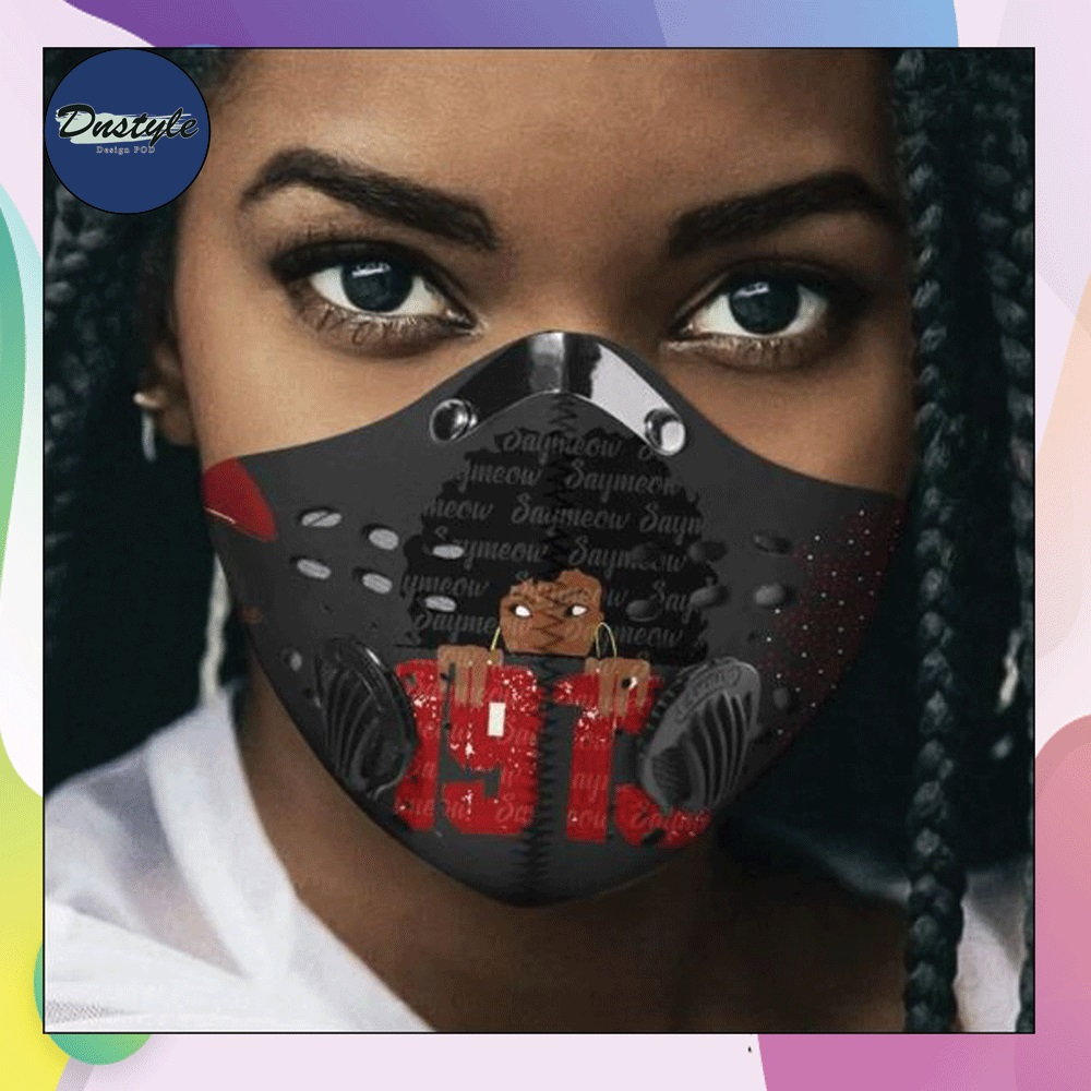 Delta Sigma Theta 1913 face mask with filter