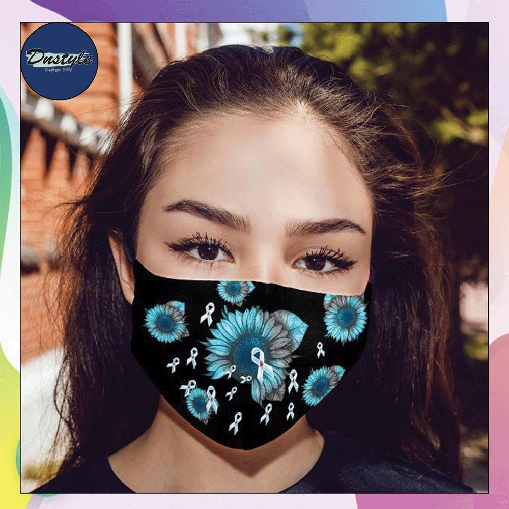Diabetic Awareness sunflower face mask