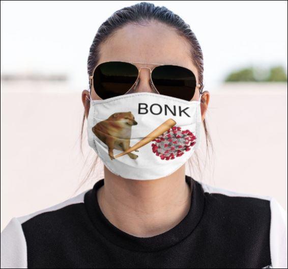 Dog bonk coronavirus face mask
