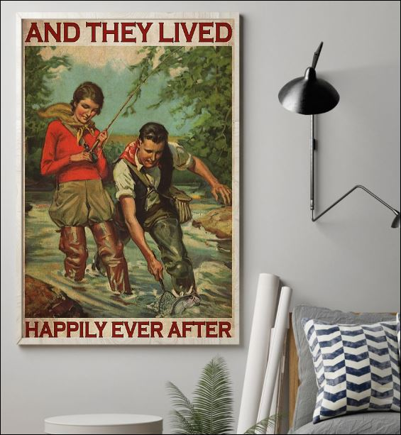Fishing and they lived happyly ever poster 1