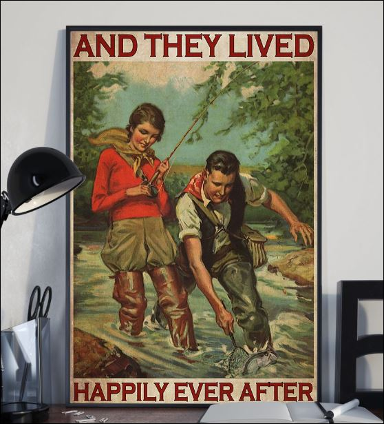 Fishing and they lived happyly ever poster 2
