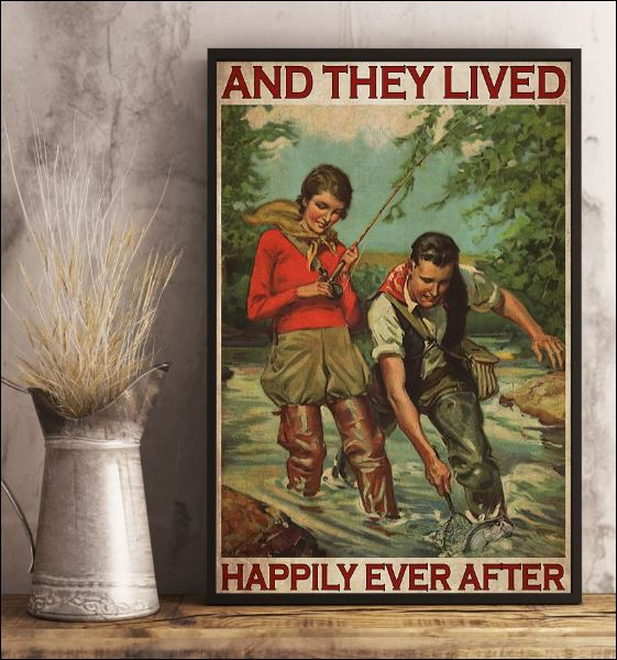 Fishing and they lived happyly ever poster 3
