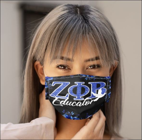 Floral Zeta Phi Beta Educator face mask