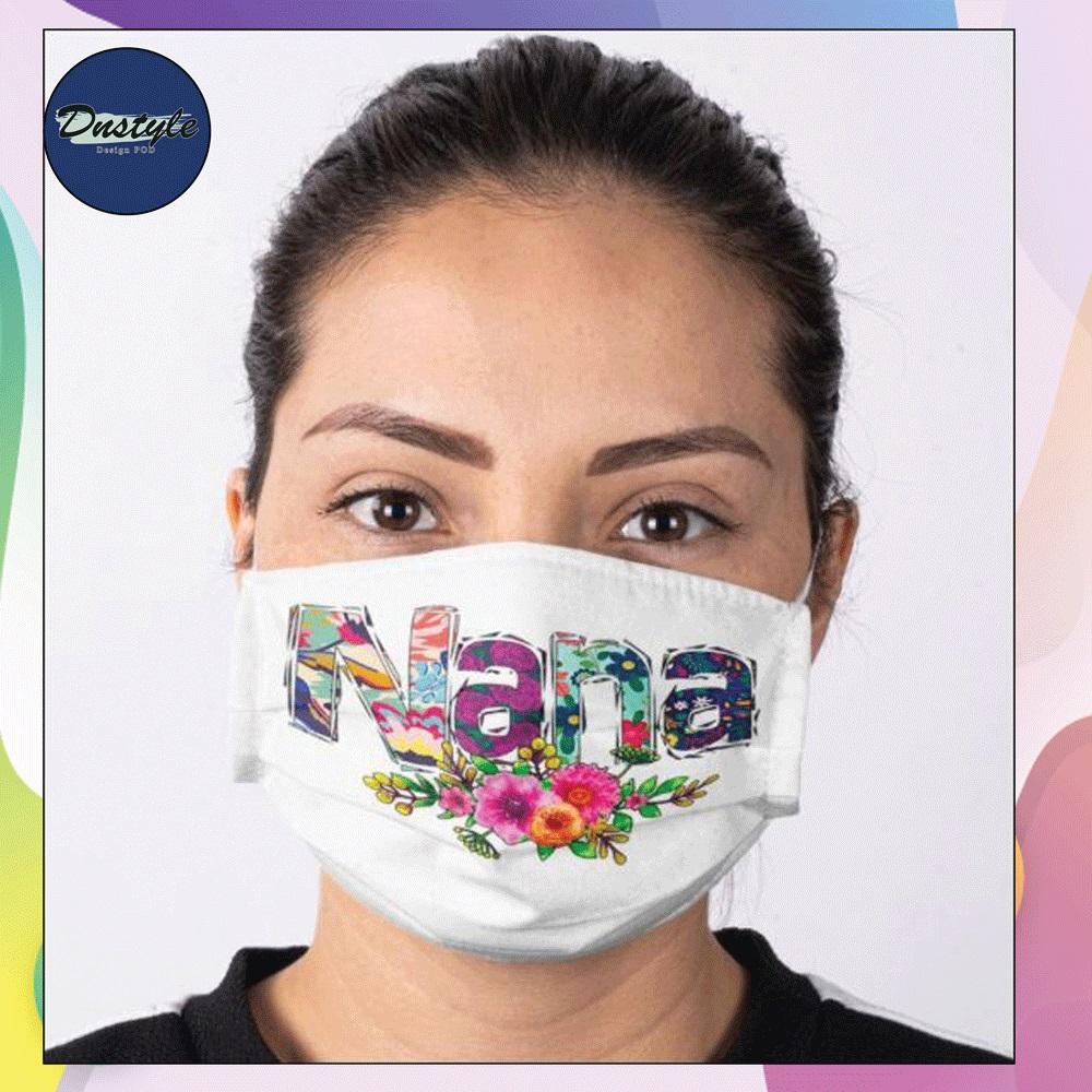 Floral nana face mask
