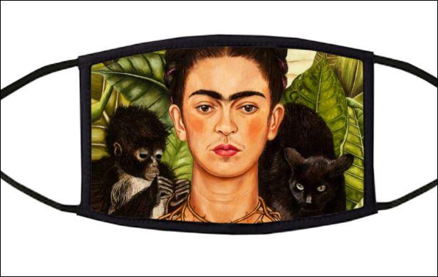 Frida Monkey Cat face mask