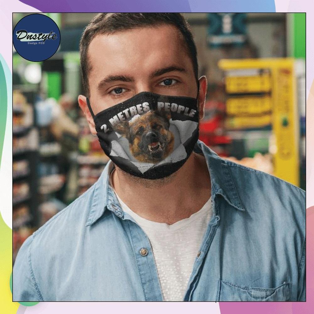 German Shepherd 2 meters people face mask