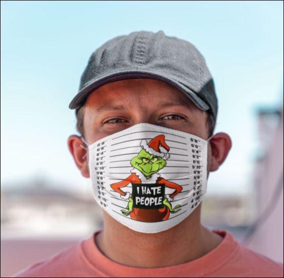 Grinch criminal i hate people face mask